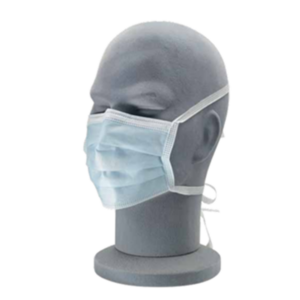 Personal Protective Equipment Standard 3-ply face mask covering on face